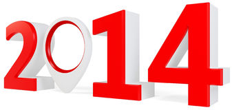 3d year 2014 and interest point Royalty Free Stock Images