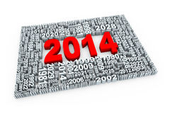 3d year 2014 Stock Photography
