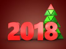 3d 2018 year sign Stock Images