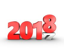 3d 2018 year sign Royalty Free Stock Photo