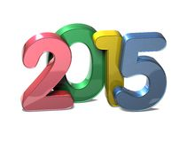 3D Year 2015 on white background. 3D Year 2015  on white background Royalty Free Stock Images