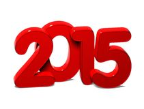 3D Year 2015 on white background Royalty Free Stock Images