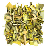 3d yellow abstract fragmented pattern backdrop Royalty Free Stock Image