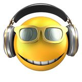 3d yellow emoticon smile Stock Images