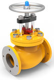 3d yellow gas valve Stock Image