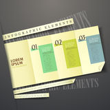 3d yellow paper label infographic elements. Vector abstract 3d yellow paper label infographic elements Royalty Free Stock Images