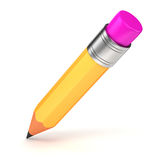 3d yellow pencil Royalty Free Stock Images