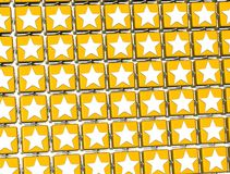 3D Yellow Stars Sign blocks.  Royalty Free Stock Photo