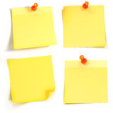 3d yellow sticky note Royalty Free Stock Photos