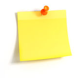 3d yellow sticky note Royalty Free Stock Photography