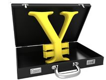 3d Yen symbol in case royalty free stock image