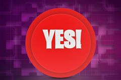3d yes icon illustration Stock Photo
