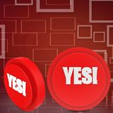 3d yes icon illustration Royalty Free Stock Image