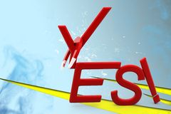 3d  yes illustration Stock Image