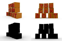 3d you can do it concept collections with alpha and shadow channel Stock Images