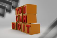 3d you can do it illustration Stock Photography