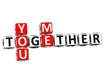 3D You Me Together Crossword. On white background Stock Image