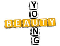 3D Young Beauty Crossword Royalty Free Stock Images