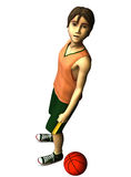 3d Basketball player. 3d young male basketball player in American cartoon style Royalty Free Stock Photography