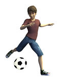 3d Soccer player Stock Photos