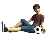 3d Soccer player Stock Photo