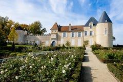 D Yquem, Francia del castillo francés fotografía de archivo libre de regalías
