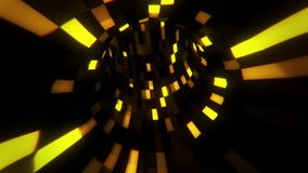 3D złocisty fantastyka naukowa inteligenci arificial tunel - vj pętli ruchu tło v2