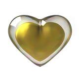 3D Złoty serce Fotografia Royalty Free