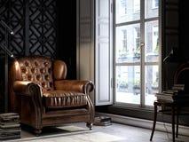 3D Zaal in oude stijl binnenlands Londen stock illustratie