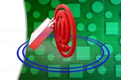 3D zabezpieczają email ilustrację Obrazy Royalty Free