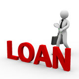 3d zakenman die lening zoeken Stock Afbeelding