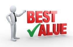 3d zakenman met beste waarde royalty-vrije illustratie