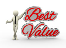3d zakenman met beste waarde stock illustratie