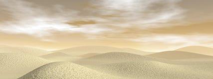 3D zandwoestijn - geef terug Stock Foto's