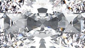 3D zbliżenia uprawy ilustracyjnej diamentowej tekstury makro- zoom fotografia stock