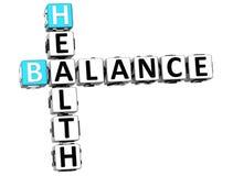 3D zdrowie równowagi Crossword Obraz Stock