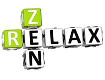 3D Zen Relax Crossword Images libres de droits