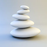 3d zen- spa stones Stock Photo