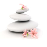 3d zen- spa stones Royalty Free Stock Photo