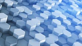 3D zeshoeken het mozaïek geeft terug royalty-vrije illustratie