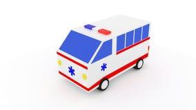 3D ziekenwagenbestelwagen Stock Afbeelding