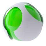 3d zieleni abstrakta sfera Zdjęcie Royalty Free