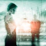 3D ziemi hologram na zamazanym tle Globalnego biznesu i komunikaci pojęcie ilustracji