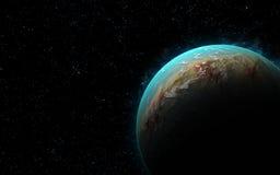 3D ziemia jak planeta Zdjęcie Royalty Free