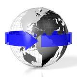 3D ziemia, podróży pojęcie Fotografia Stock