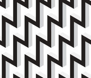 3D Zig Zag Abstract Stars Geometric Vector Seamless Pattern. Royalty Free Stock Photo