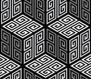 3D Zig Zag Cubes, Op Art Vector Seamless Pattern Stock Photos
