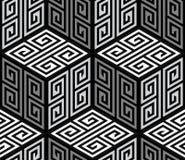 3D Zig Zag -Kubussen, Op Art Vector Seamless Pattern Stock Foto's