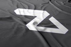 3d Zilliqazil cryptocurrency geeft vlag terug royalty-vrije illustratie