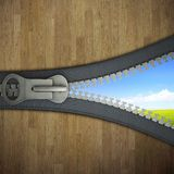 3 D zipper Royalty Free Stock Images